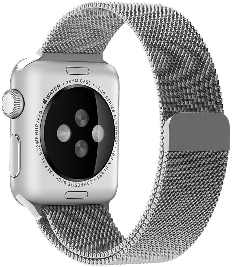 Apple Watch 42/44MM Milánói Szíj Ezüst